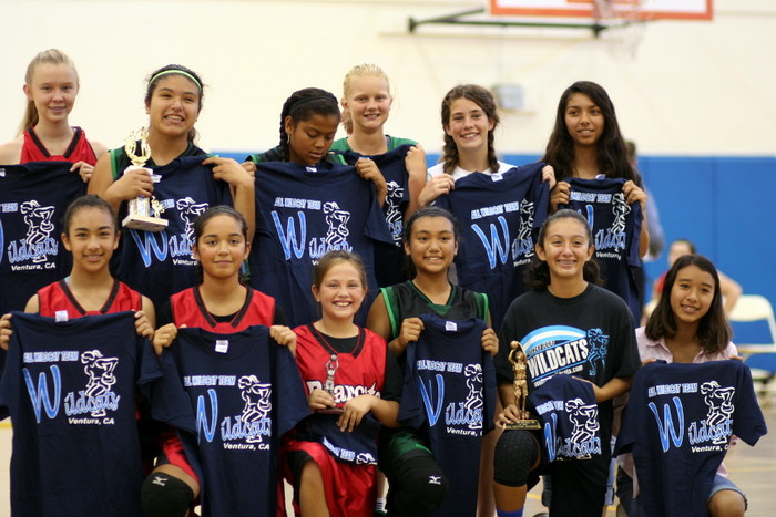 The 2015 All Wildcat Team. Front fow, left to right: Tatianna Morales (Bearcats), Sophia Parmisano (Bearcats), Faith Stockton (Bearcats), Kaitlyn Abarientos (Jaguars), Marissa Ybarra (Leopards, (Ayako Plascencia (Panthers). Back row, left to right: Isabella Swann (Bearcats), Samantha Martinez (Jaguars), Renee Cafarelli (Jaguars), Sophie Wilson (Leopards), Caroline Connoly (Leopards), Natalie Bautista (Panthers).